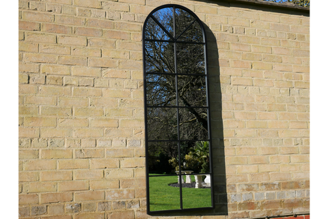 Black Window Garden Mirror
