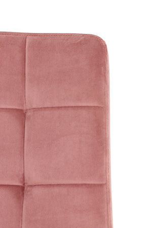 Set Of Velvet Dining Chairs - Pink