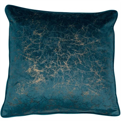 Teal Crackle Cushion