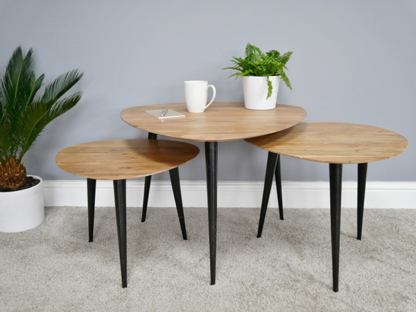 Set Of 3 Industrial Tables