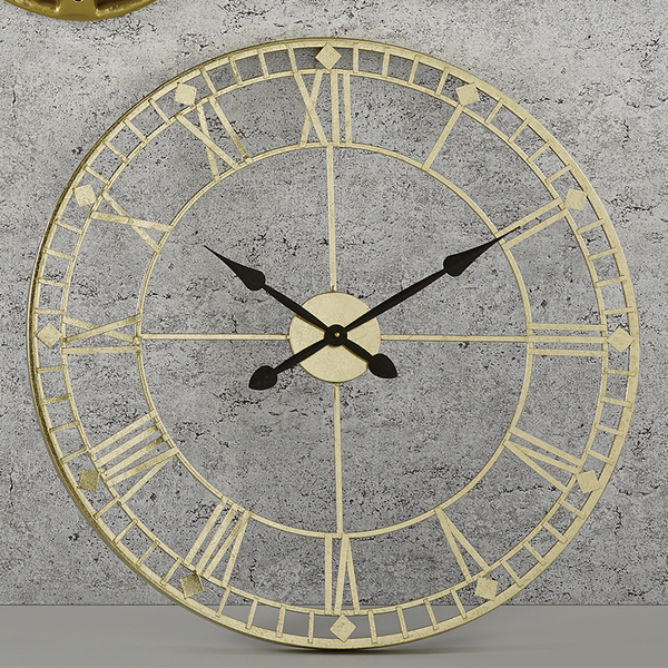 Antique Gold Roman Clock