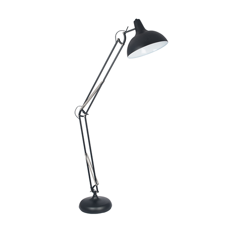 Black Metal Angle Floor Lamp