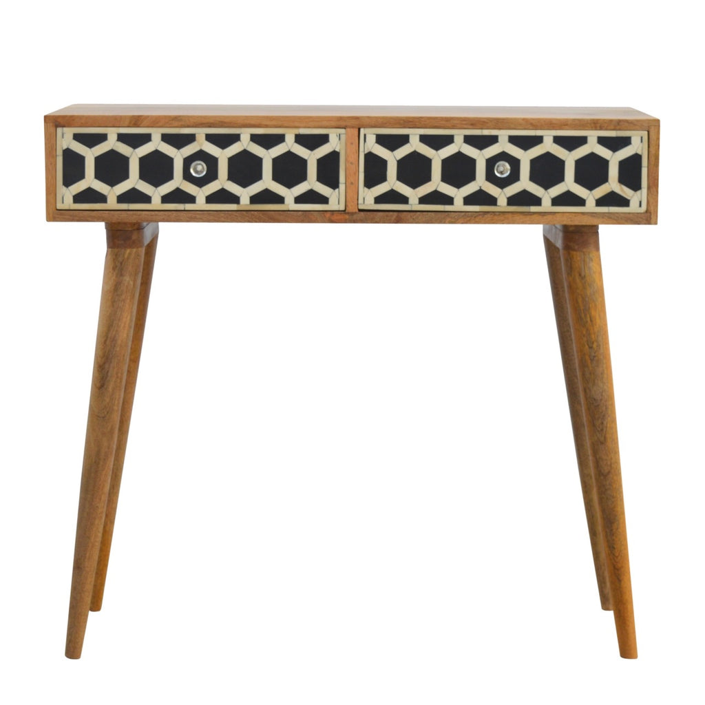 Geometric Bone Inlay Table