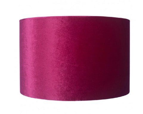 Raspberry Velvet Lamp Shade