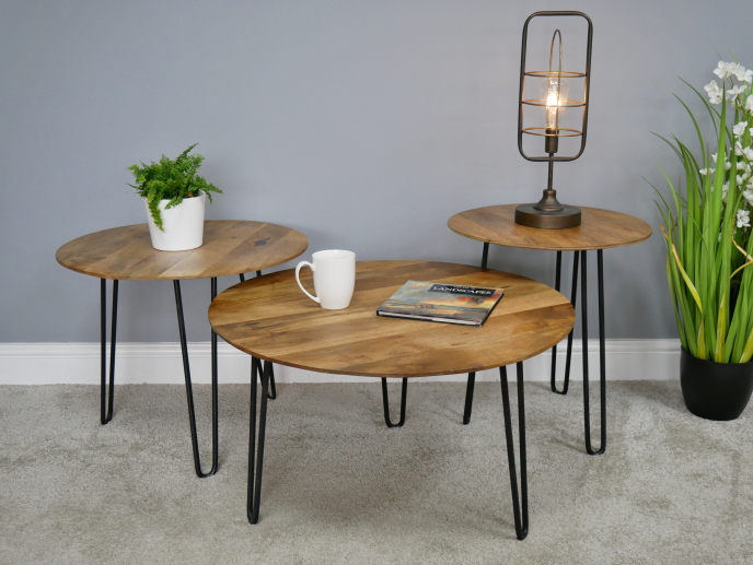 Set of 3 Hairpin Side Tables