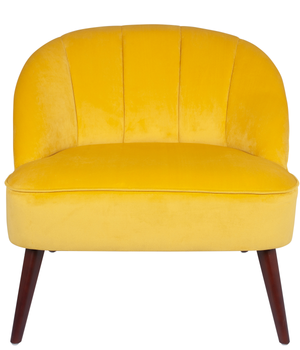 Ochre Velvet Chair