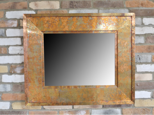 Hammered Copper Mirror - Small