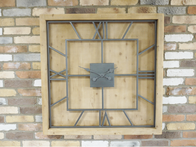 Square Wooden Clock
