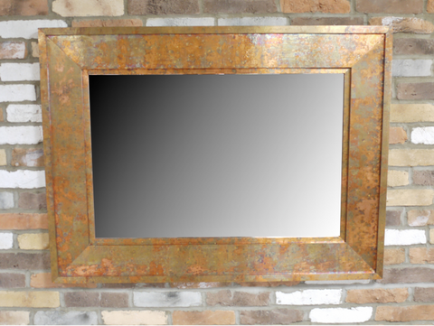 Hammered Copper Mirror - Medium