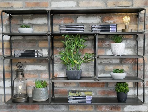 Industrial Wall Shelving Unit