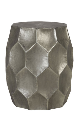 Hammered Side Table - Antique Silver