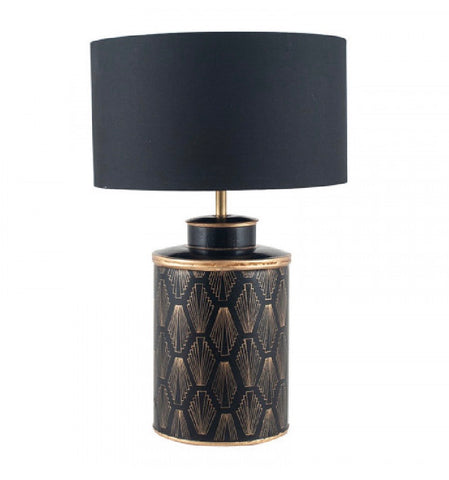 Gold And Black Deco Lamp