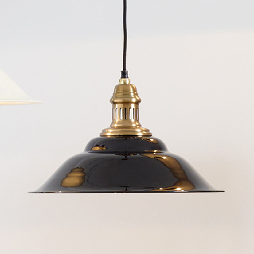 Black and Gold Metal Cafe Pendant