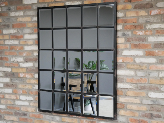 Black Feature Wall Mirror