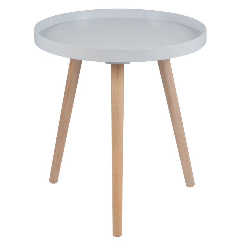Grey Round Side Table