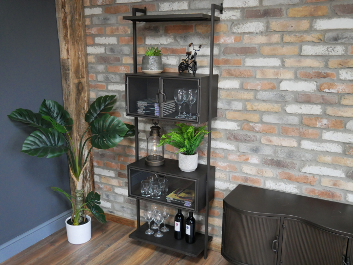 Industrial Metal Wall Unit