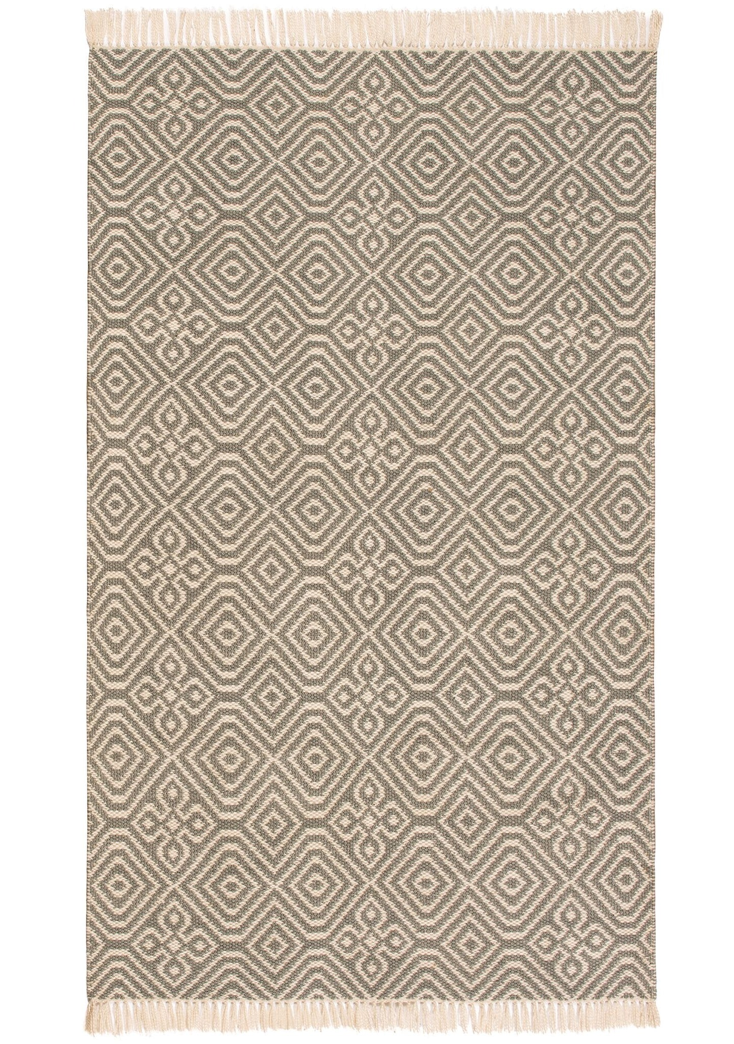 Diamond Pattern Recycled (PET) Rug - Grey