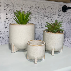 Speckled Planters - Set Of Three