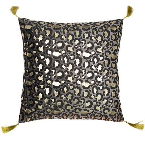 Metallic Leopard Cushion