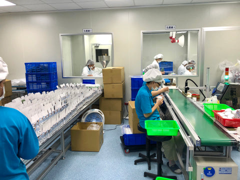 NICO & ROBO's GMP certified manufacturing facility located in Taiwan. This allows us to process our fresh ingredients fast to ensure the best quality of the products!