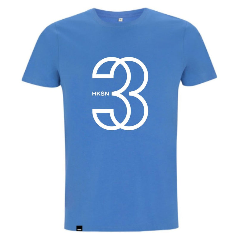 French Blue '3' Organic Tee (Unisex)