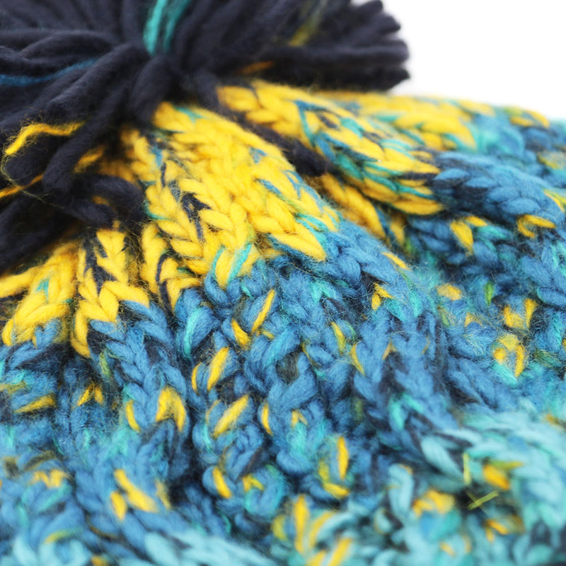 'Electric Ocean' Luxury Bobble Beanie