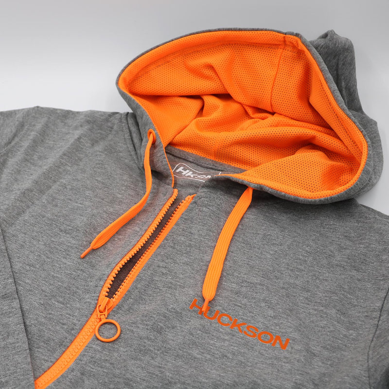 Grey and Orange Sports Hoodie
