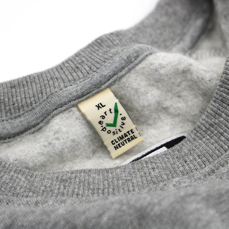 Grey 'Built To Endure' Organic Raglan Sweater (Unisex)