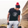 Oxford Navy and Fire Red Bobble Beanie