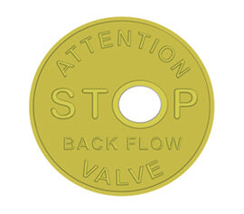 "4"" Back Flow Valve Notification Disk"