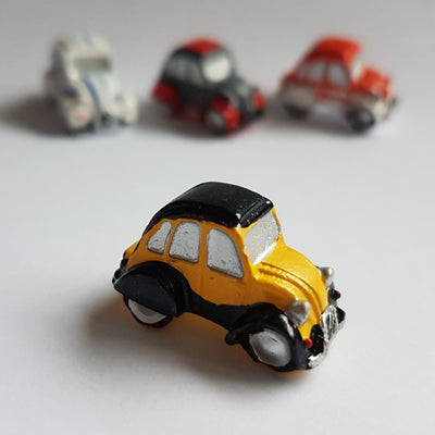Pion 2cv collector CHARLESTON JAUNE