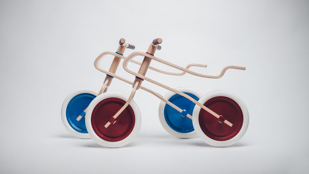 Brum Brum Candy Red & Blue Collection - Brum Brum wooden balance bike for kids
