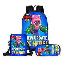 Cargar imagen en el visor de la galería, 2019 Hot Kids Shooting Game Brawl Stars School Bag Children Mochila Backpack Girl Boy Super Anime Set School Bags