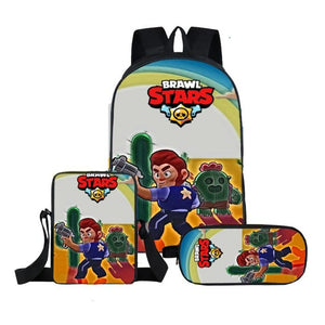 2019 Hot Kids Shooting Game Brawl Stars School Bag Children Mochila Backpack Girl Boy Super Anime Set School Bags