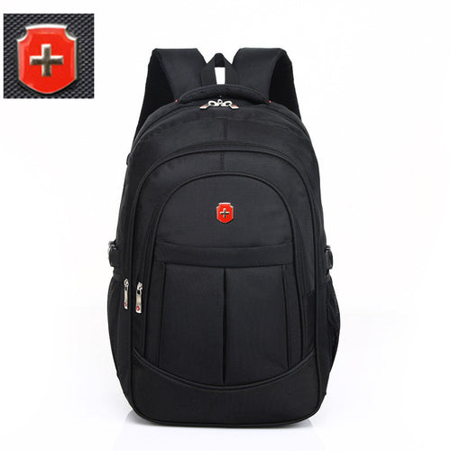 swiss 17 inch men travel waterproof bag black nylon USB charging business backpack wear waterproof laptop bag  Mochila Escolar