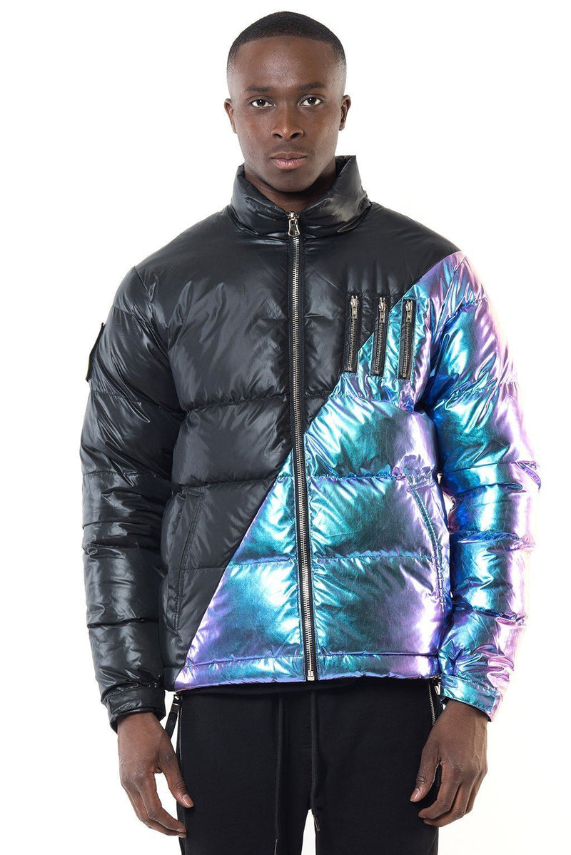 MIDDLE BLACK-IRIDESCENT REVERSIBLE Homme THE NEW DESIGNERS