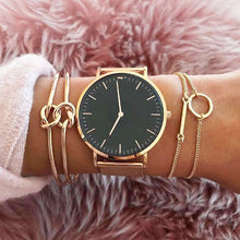 Load image into Gallery viewer, 3Pcs/set Women's Fashion Punk Bracelet Simple Double Knot Loop Metal Chain Bracelet Bohemian Retro Jewelry Accessories NS16