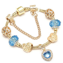 Load image into Gallery viewer, BAOPON Dropshipping New Famous Brand Jewelry Women Charm Bracelet 2018 Pandora Bracelet Gold Bracelets Pulseras Mujer