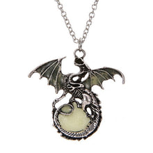 Load image into Gallery viewer, Game of Throne dragon Punk Luminous Dragon Pendants & Necklaces glow in the dark dragon amulet Sweater