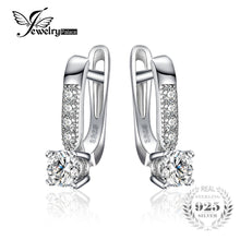Load image into Gallery viewer, JewelryPalace 925 Sterling Silver Earrings 1ct Cubic Zirconia CZ Clip Earrings Fine Jewelry Anniversary Gifts For Women Fashion