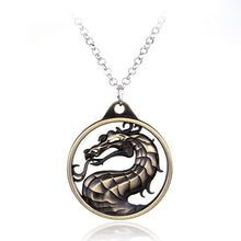Load image into Gallery viewer, Movie Jewelry Fighting Games Mortal Kombat necklace dragon Jane Empire Vintage Big Pendant For Men Women Christmas Cosplay Gift