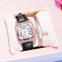 Load image into Gallery viewer, Women diamond Watch starry Luxury Bracelet set Watches Ladies Casual Leather Band Quartz Wristwatch Female Clock zegarek damski