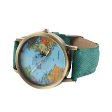 Charger l'image dans la galerie, New Women Quartz Watch World Map Pattren Leather Strap Watch Popular Girl Quartz Watches  Fashion Wristwatches Relojes Mujer
