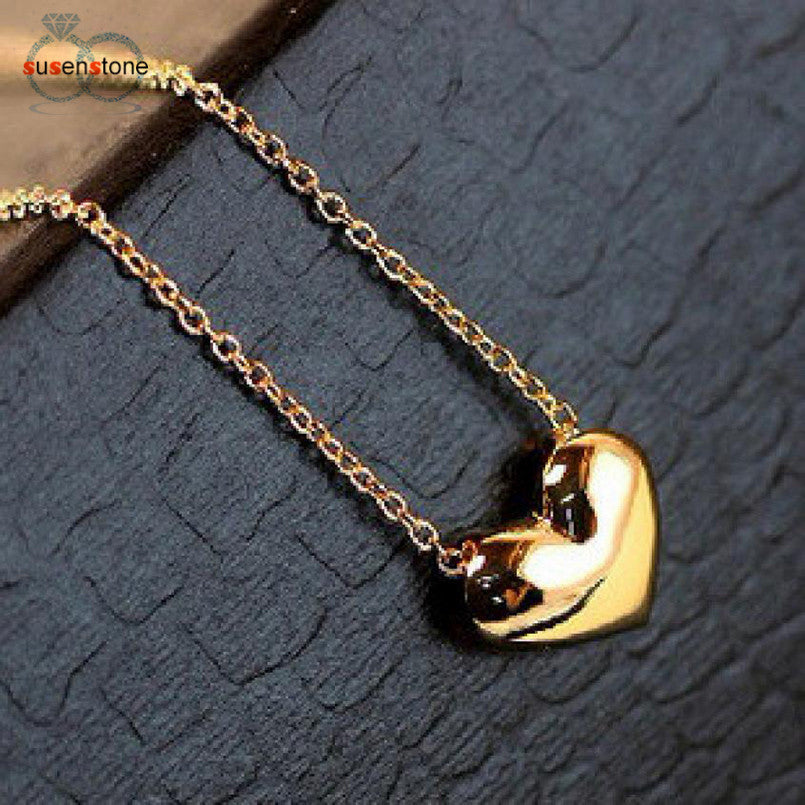 SUSENSTONE Fashion Jewelry Pendant Choker Chunky Statement Bib Chain Gold Necklace