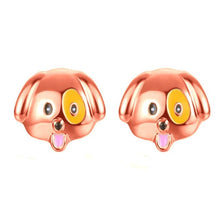 Load image into Gallery viewer, SUSENSTONE Alloy drip earrings cute puppy earrings gold / silver / rose gold 1 Pair New Fashion Simple Dog Head Alloy Women Stud