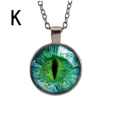 Load image into Gallery viewer, Retro cat's Eye Pendant Necklace Hot Dreamy Crystal Ball Star Long Glass Retro Pattern Pendant Necklace Jewelry #py30