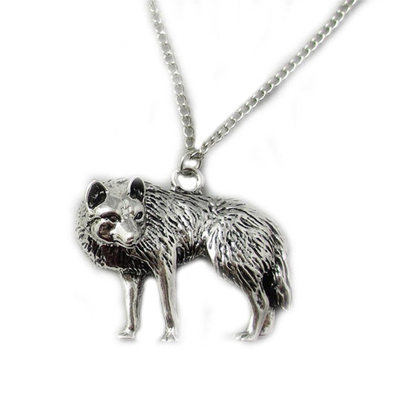 Fashion Wolf Pendant Necklace Vintage Copper Loverly Charms Jewelry Gift