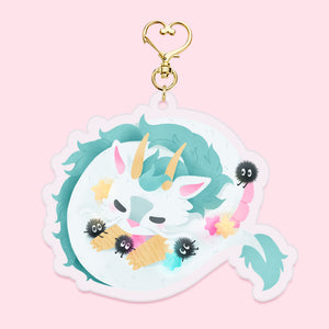 Sleepy-time Haku Keychain