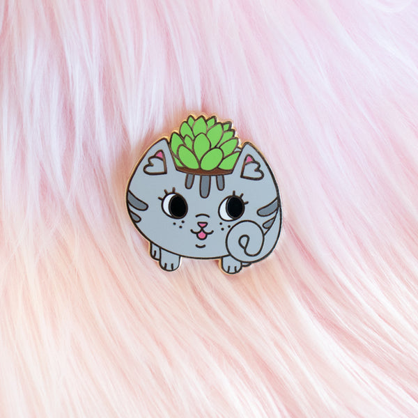 Cat Planter Pin