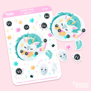 """Sleepy-Time Haku"" Matte Sticker Sheet - #SG01"